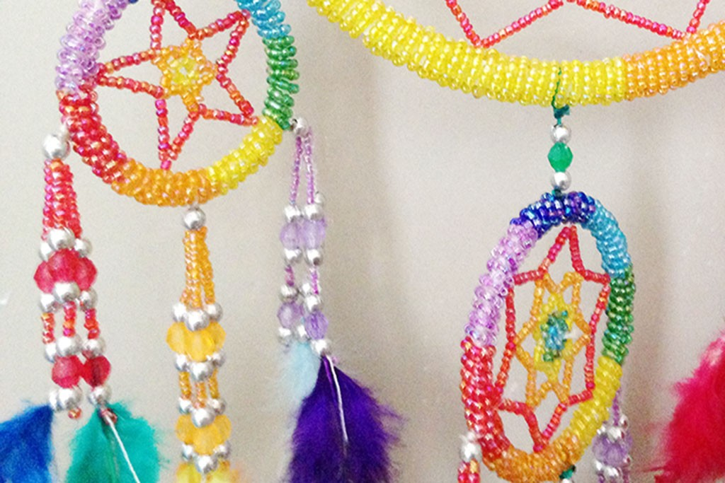 Dream Catcher Multicoloured Beads - Round D16 cm
