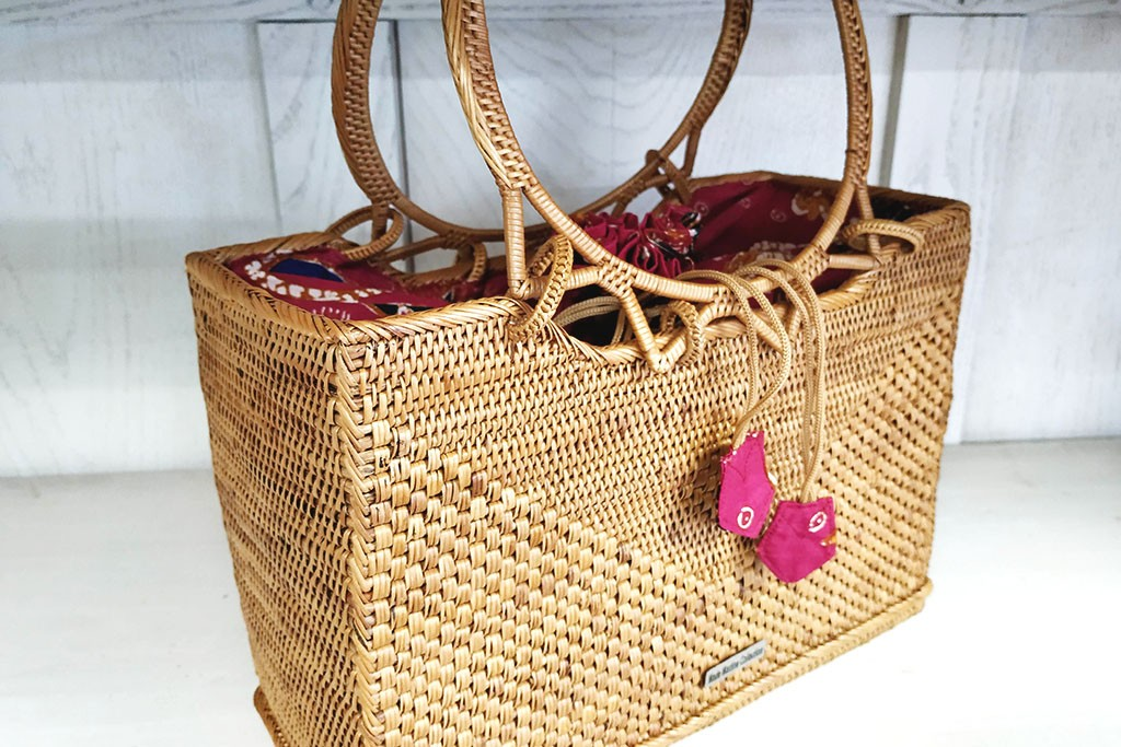 Woman Large Bag ATA and Batik - MARBORO Fuschia-red