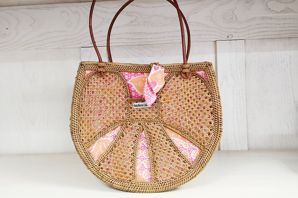 Woman Large Bag ATA and Batik - BUTTERFLY Pink