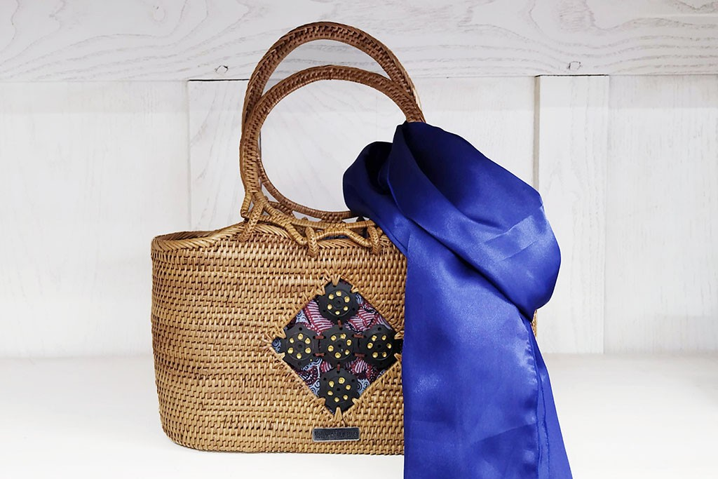 Woman Bag ATA and Batik - RANJANG Blue