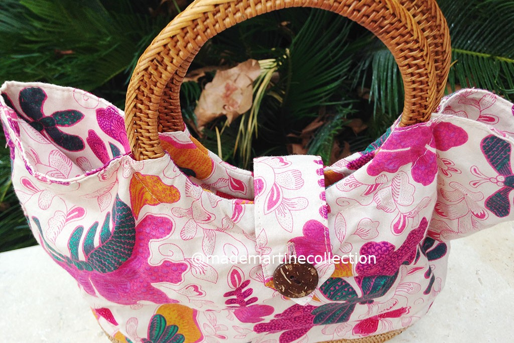 Woman Bag Batik Fabric - BAGGY Fuchsia
